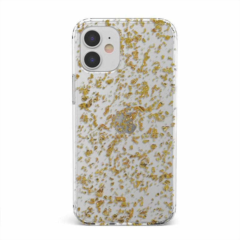 Rose and Gold Flaked Clear Case iPhone Case get.casely Classic iPhone 12 Mini