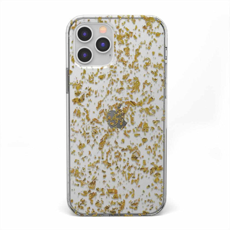 Rose and Gold Flaked Clear Case iPhone Case get.casely Classic iPhone 12 Pro
