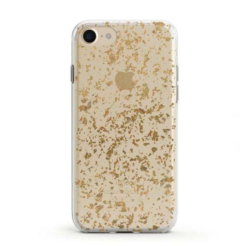Rose and Gold Flaked Clear Case iPhone Case Get.Casely Classic iPhone 6/6s