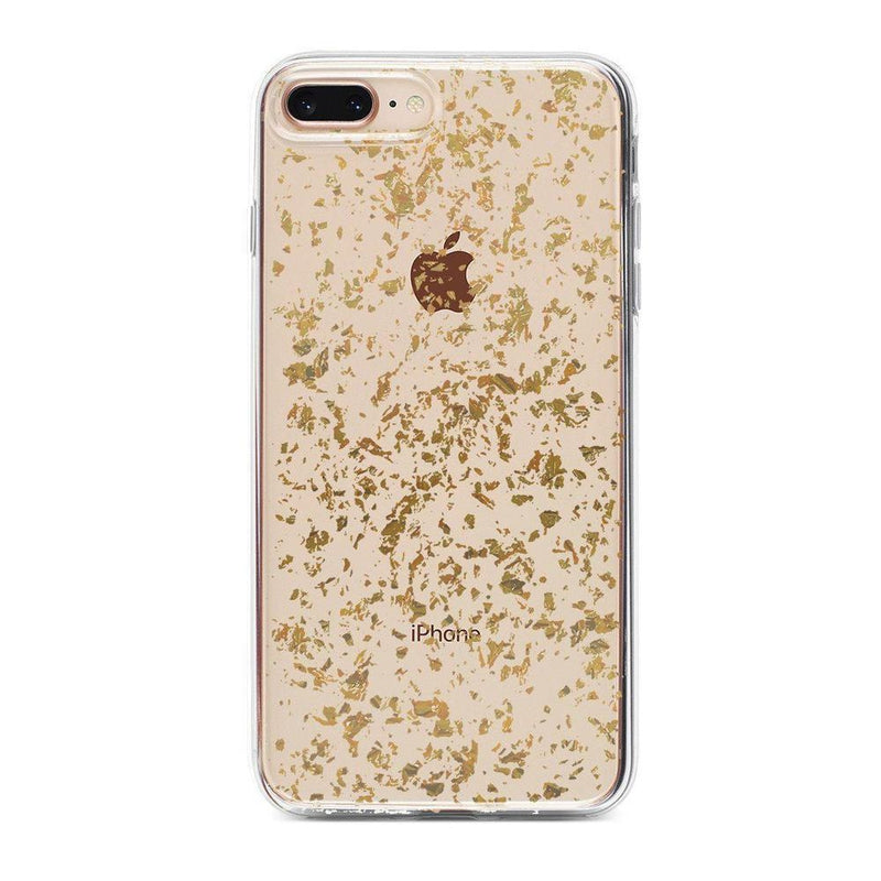 Rose and Gold Flaked Clear Case iPhone Case Get.Casely Classic iPhone 6/6s Plus