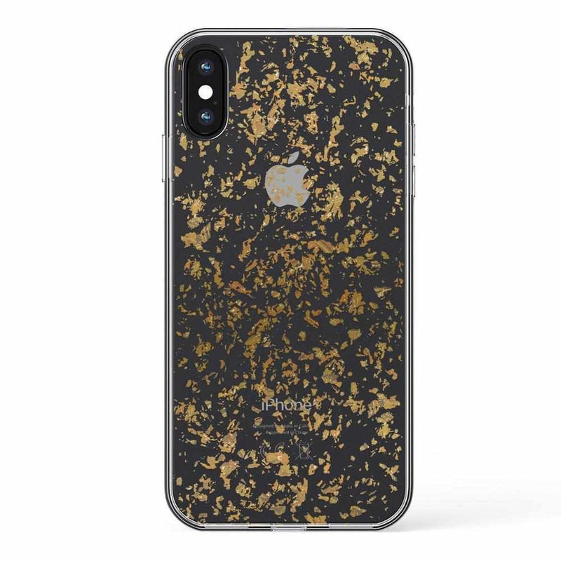Rose and Gold Flaked Clear Case iPhone Case Get.Casely Classic iPhone X / XS
