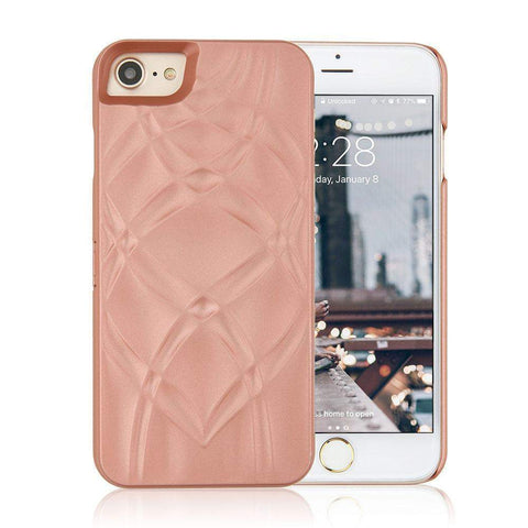 Pink and Gold Metallic Waves Case