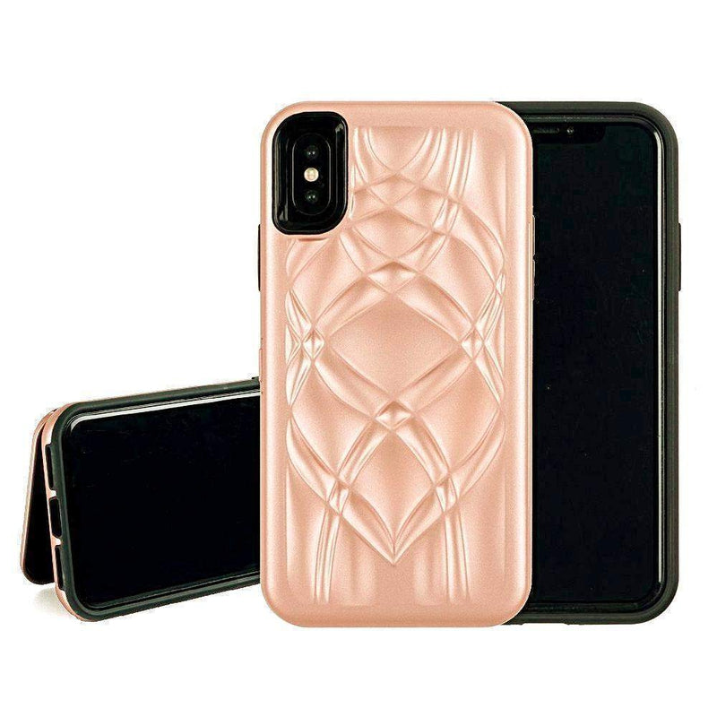 Rose Gold Mirror + Wallet Flip Case iPhone Case get.casely iPhone X / XS