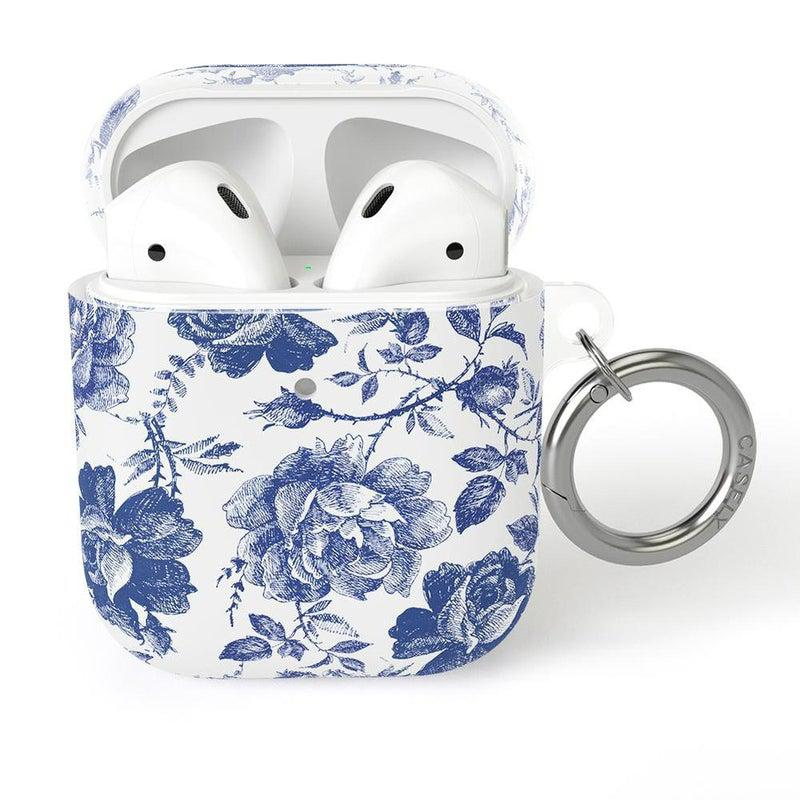 Rose to Fame | Blue & White Rose AirPods Case AirPods Case CASELY AirPods Case