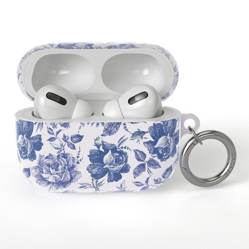 Rose to Fame | Blue & White Rose AirPods Case AirPods Case CASELY AirPods Pro Case