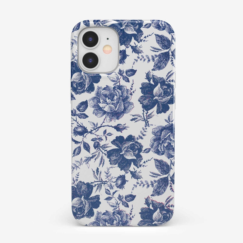 Rose to Fame | Blue & White Rose Case iPhone Case get.casely Classic iPhone 12 Mini