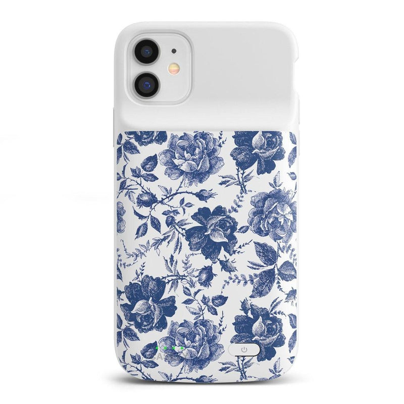 Rose to Fame | Blue & White Rose Case iPhone Case get.casely Power 2.0 iPhone 11