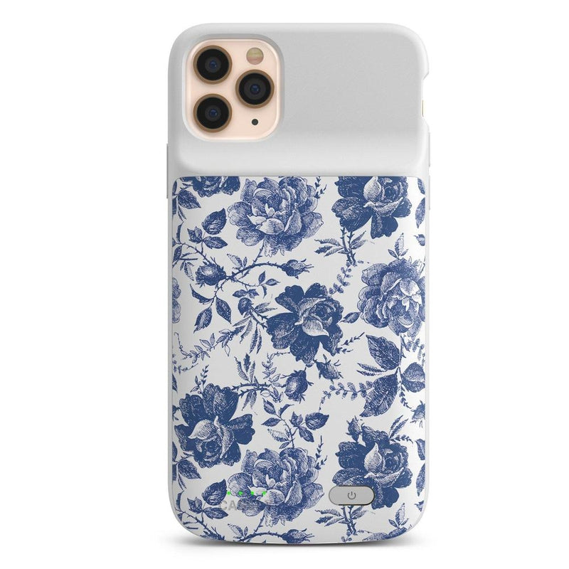 Rose to Fame | Blue & White Rose Case iPhone Case get.casely Power 2.0 iPhone 11 Pro Max