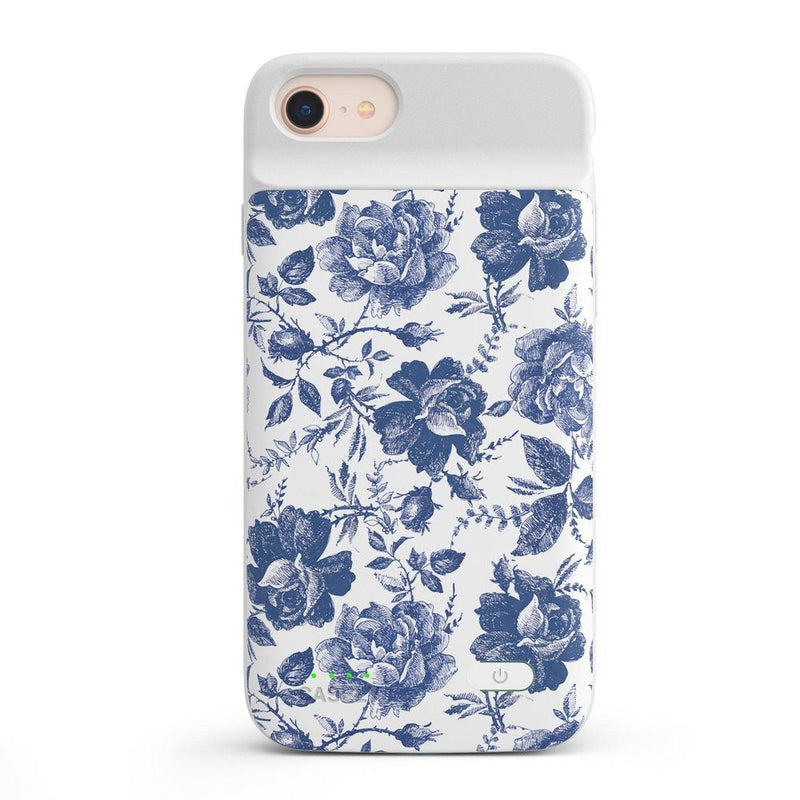 Rose to Fame | Blue & White Rose Case iPhone Case get.casely Power 2.0 iPhone SE (2020)