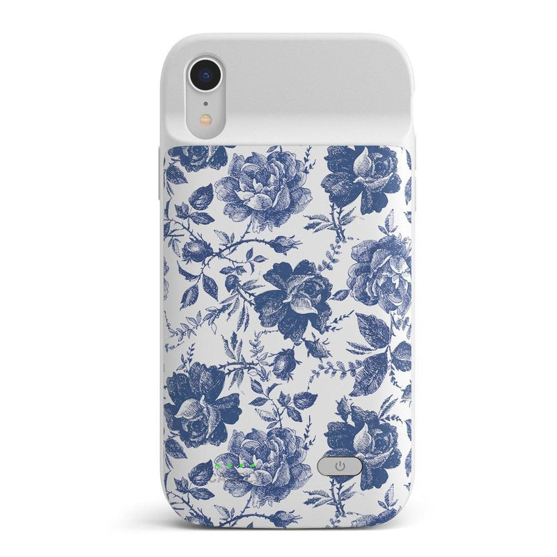 Rose to Fame | Blue & White Rose Case iPhone Case get.casely Power 2.0 iPhone XR