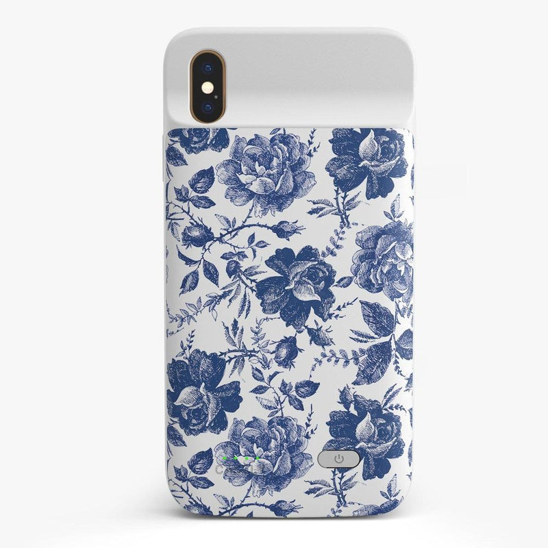 Rose to Fame | Blue & White Rose Case iPhone Case get.casely Power 2.0 iPhone XS Max