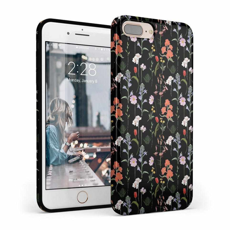 Secret Garden | Mixed Floral Case iPhone Case Get.Casely Classic iPhone 8 Plus