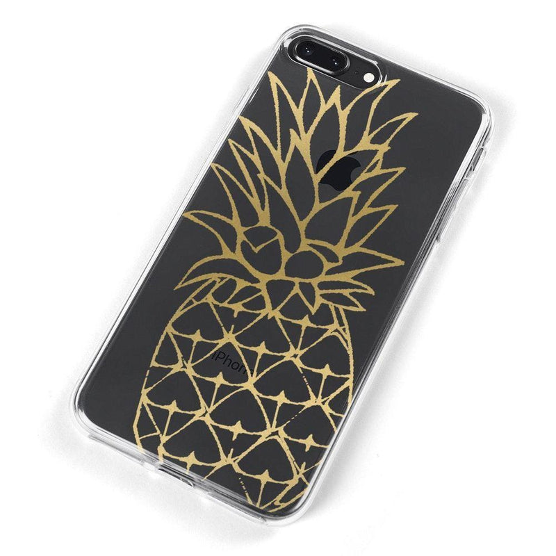 Shiny Gold Pineapple Clear Case for girls iPhone Case Get.Casely