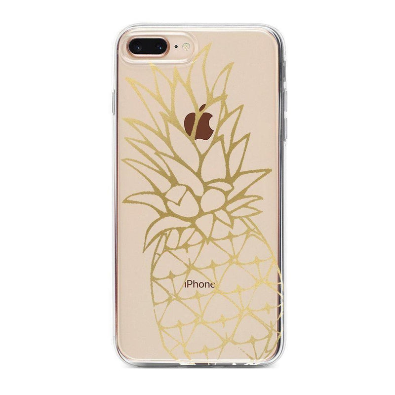 Shiny Gold Pineapple Clear Case for girls iPhone Case Get.Casely Classic iPhone 6/6s Plus