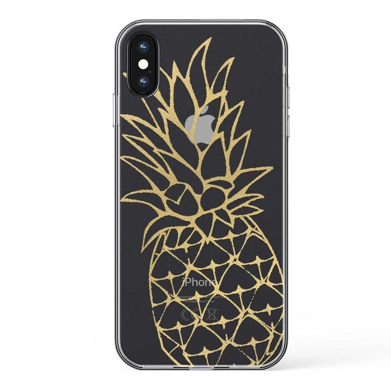 Shiny Gold Pineapple Clear Case for girls iPhone Case Get.Casely Classic iPhone X / XS