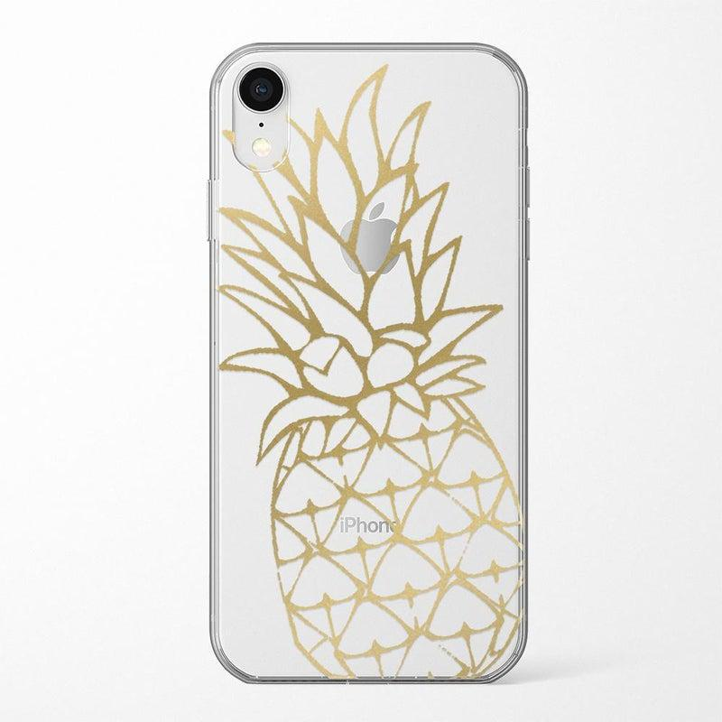 Shiny Gold Pineapple Clear Case for girls iPhone Case Get.Casely Classic iPhone XR