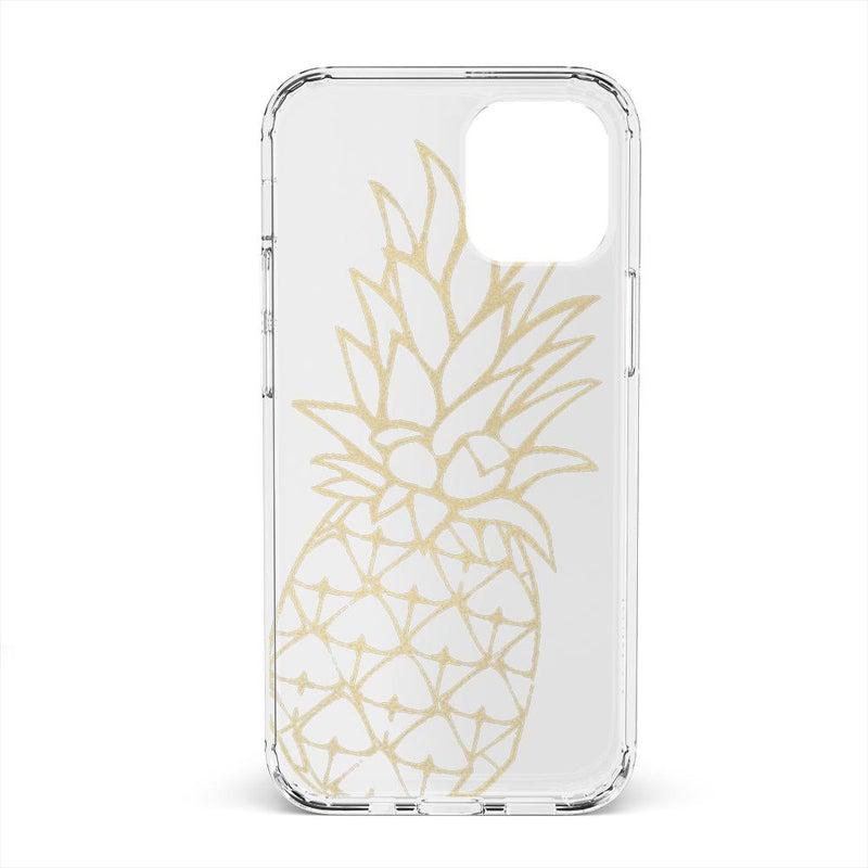 Shiny Gold Pineapple Clear Case iPhone Case get.casely