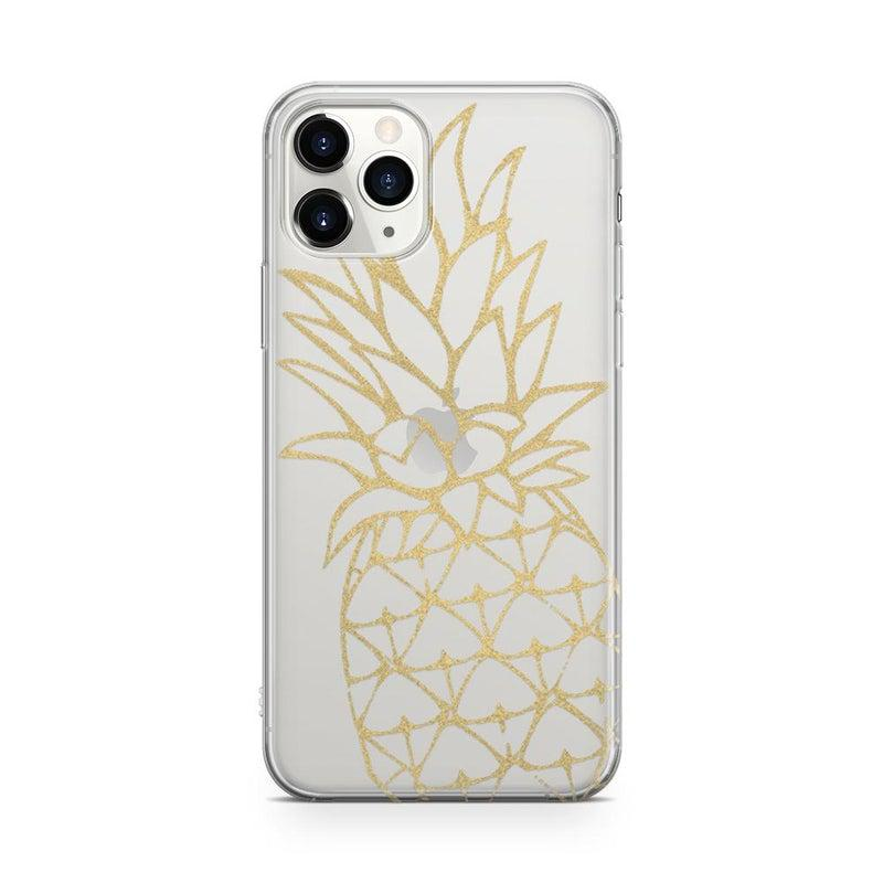 Shiny Gold Pineapple Clear Case for girls iPhone Case Get.Casely Classic iPhone 6/6s