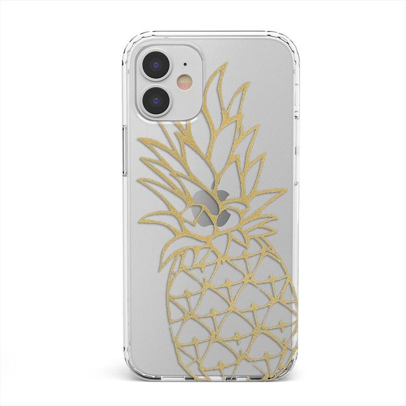 Shiny Gold Pineapple Clear Case iPhone Case get.casely Classic iPhone 12 Mini