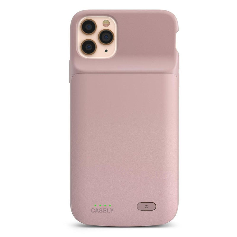 Shiny Rose Gold Battery-Powered Charging Case iPhone Case get.casely Power iPhone 8