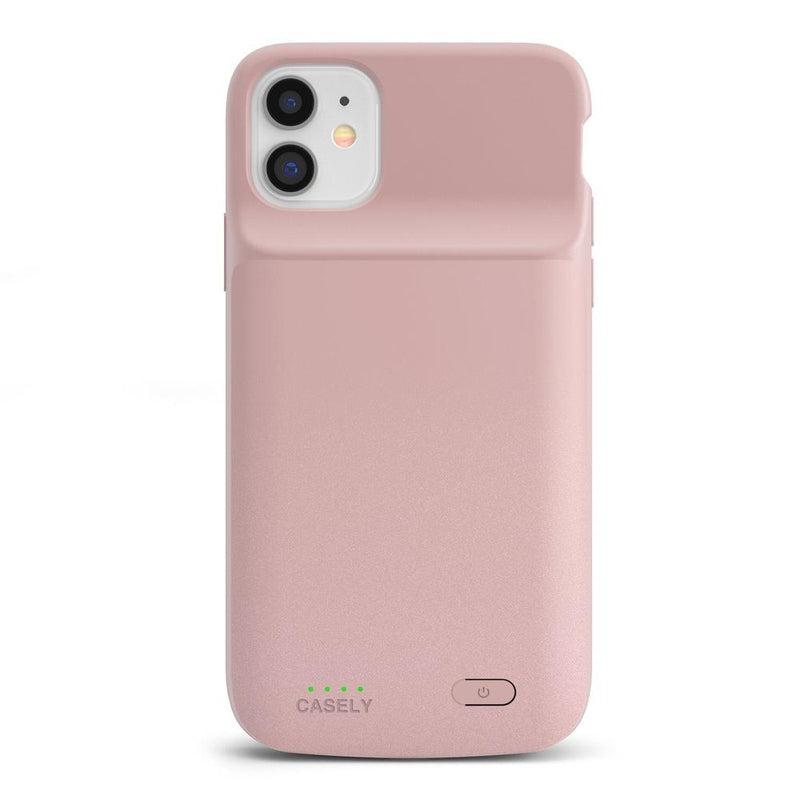 Shiny Rose Gold Battery-Powered Charging Case iPhone Case get.casely Power 2.0 iPhone 11 Pro Max