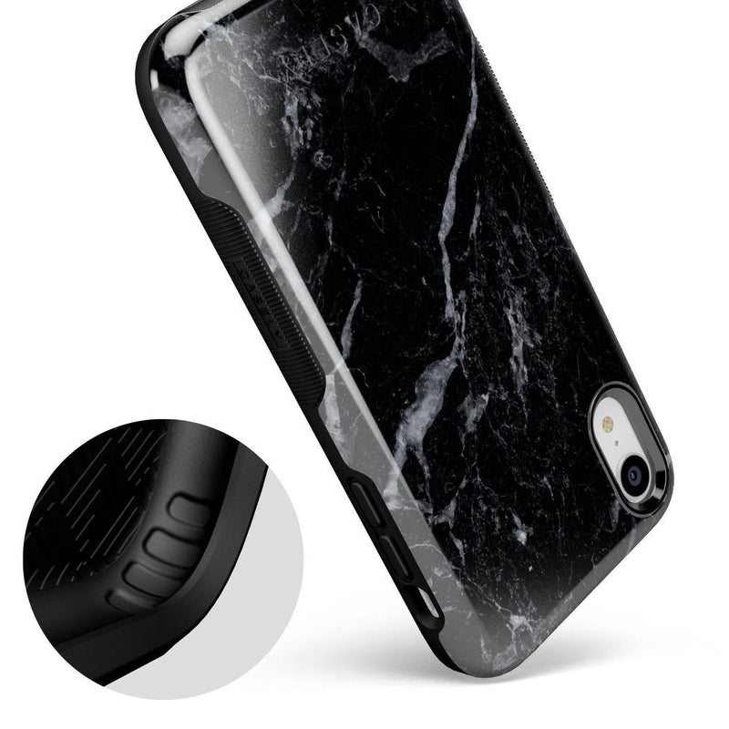 Sleek Black Marble Case iPhone Case Get.Casely
