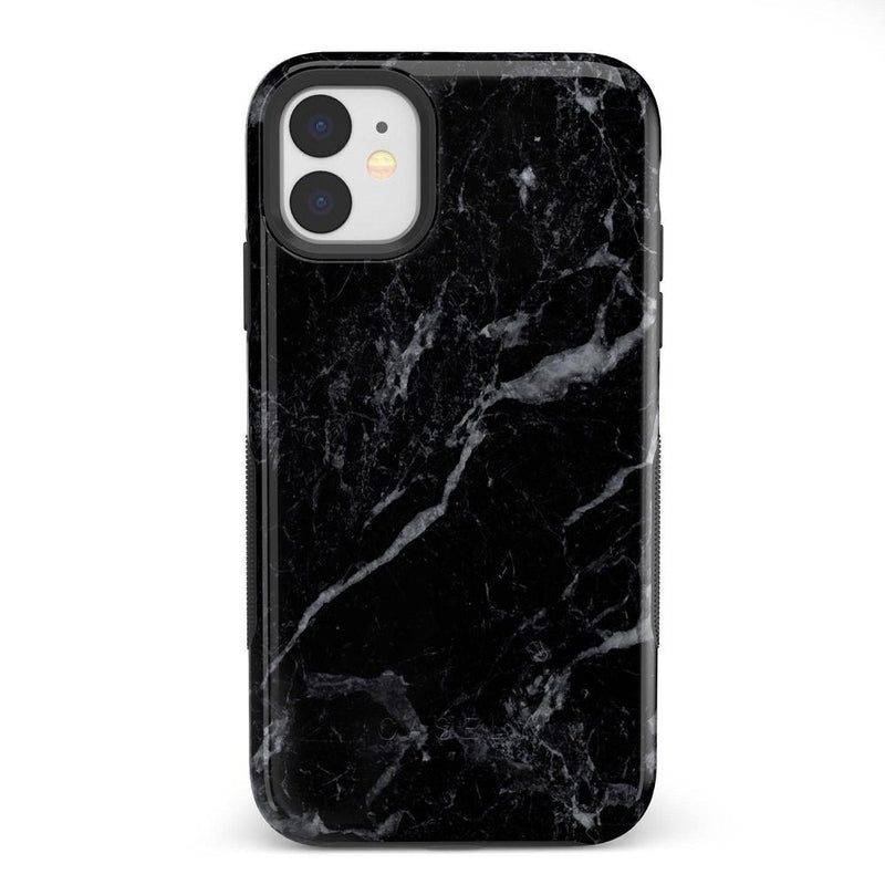 Sleek Black Marble Case iPhone Case Get.Casely Bold iPhone 11