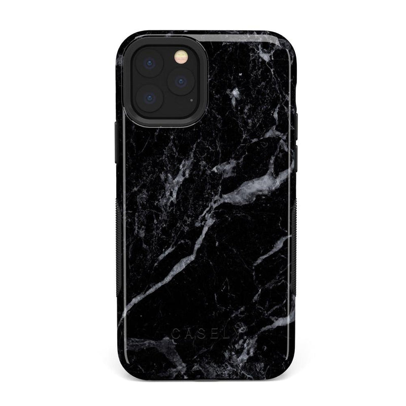 Sleek Black Marble Case iPhone Case Get.Casely Bold iPhone 11 Pro Max
