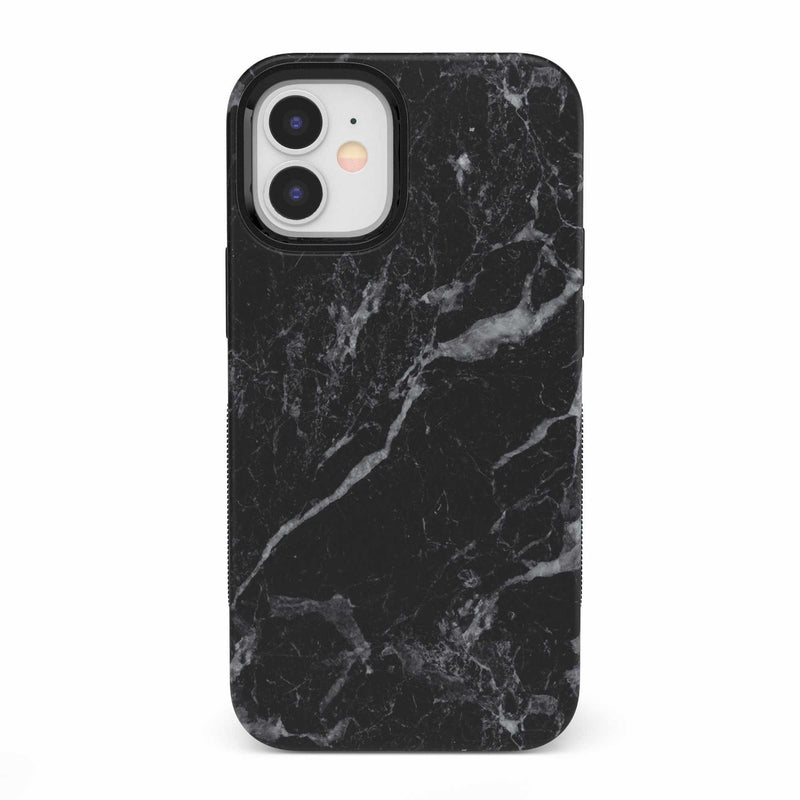 Sleek Black Marble Case iPhone Case get.casely Bold iPhone 12 Mini