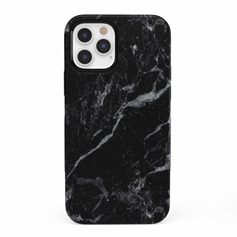 Sleek Black Marble Case iPhone Case get.casely Bold iPhone 12 Pro