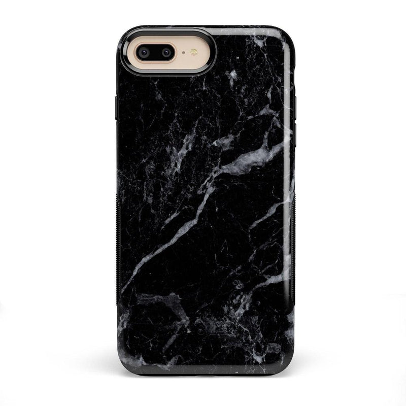 Sleek Black Marble Case iPhone Case Get.Casely Bold iPhone 8 Plus