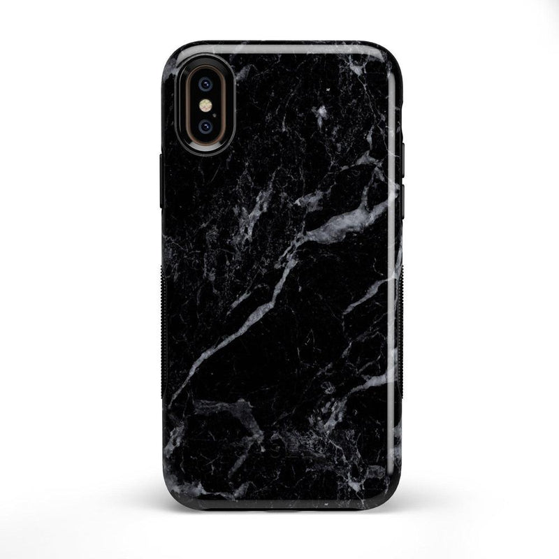 Sleek Black Marble Case iPhone Case Get.Casely Bold iPhone X / XS