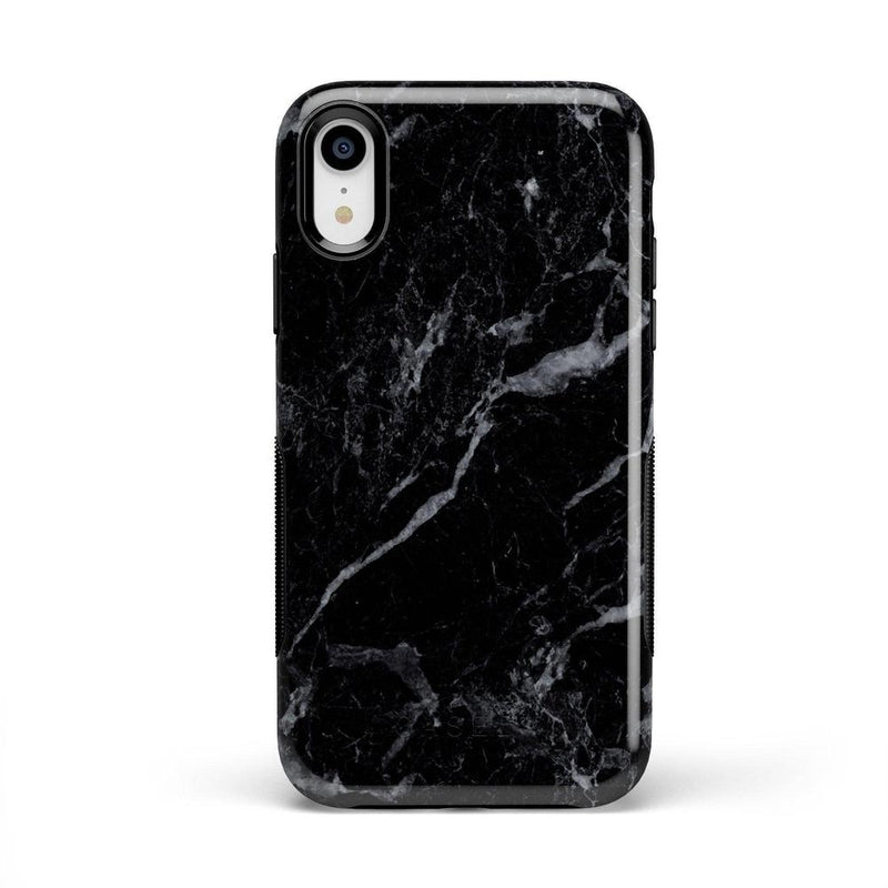 Sleek Black Marble Case iPhone Case Get.Casely Bold iPhone XR