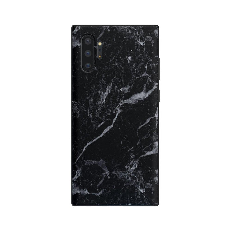 Sleek Black Marble Case iPhone Case Get.Casely Classic Galaxy Note 10 Plus