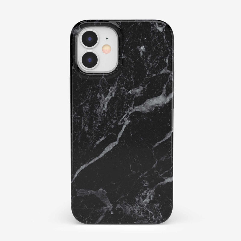 Sleek Black Marble Case iPhone Case get.casely Classic iPhone 12 Mini