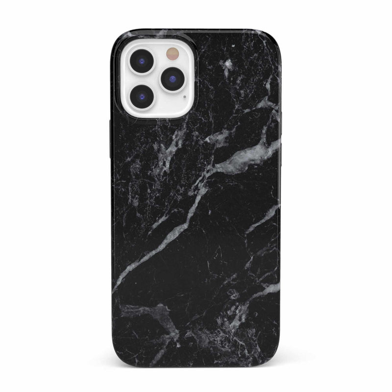 Sleek Black Marble Case iPhone Case get.casely Classic iPhone 12 Pro
