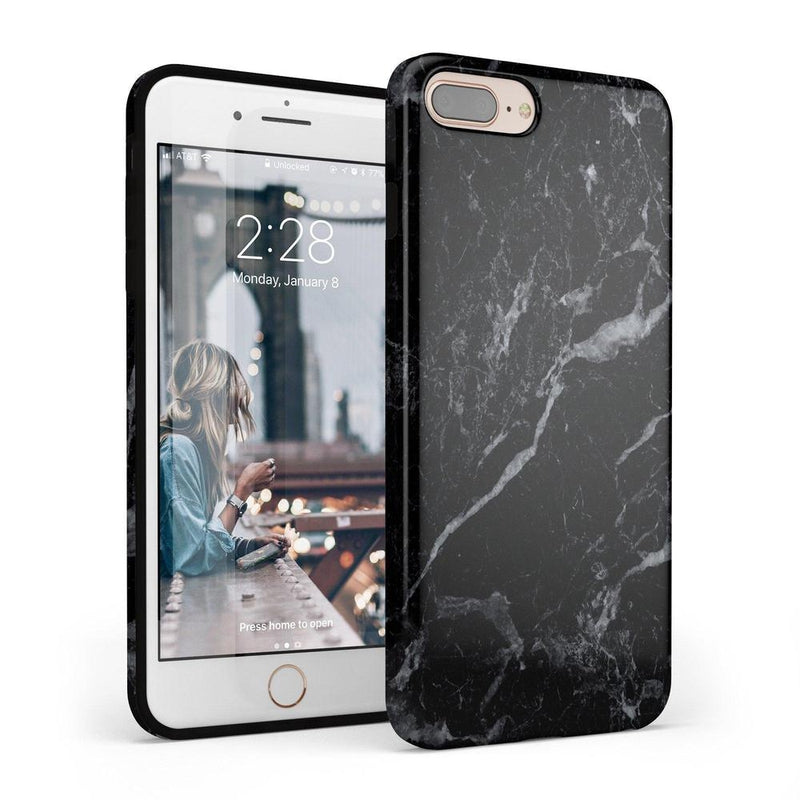 Sleek Black Marble Case iPhone Case Get.Casely Classic iPhone 6/6s Plus