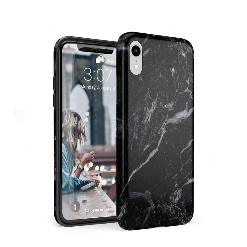 Sleek Black Marble Case iPhone Case Get.Casely Classic iPhone XR