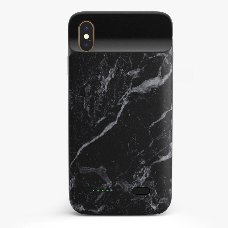Sleek Black Marble Case iPhone Case get.casely Power 2.0 iPhone XS Max