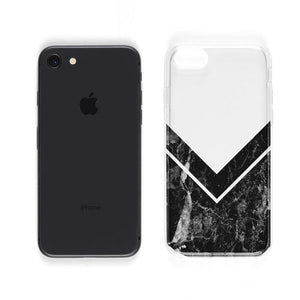 Sleek Black Marble V Clear Case iPhone Case Get.Casely