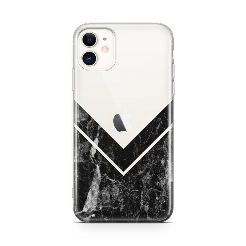 Sleek Black Marble V Clear Case iPhone Case Get.Casely Classic iPhone 11
