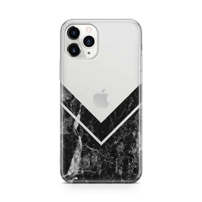 Sleek Black Marble V Clear Case iPhone Case Get.Casely Classic iPhone 11 Pro