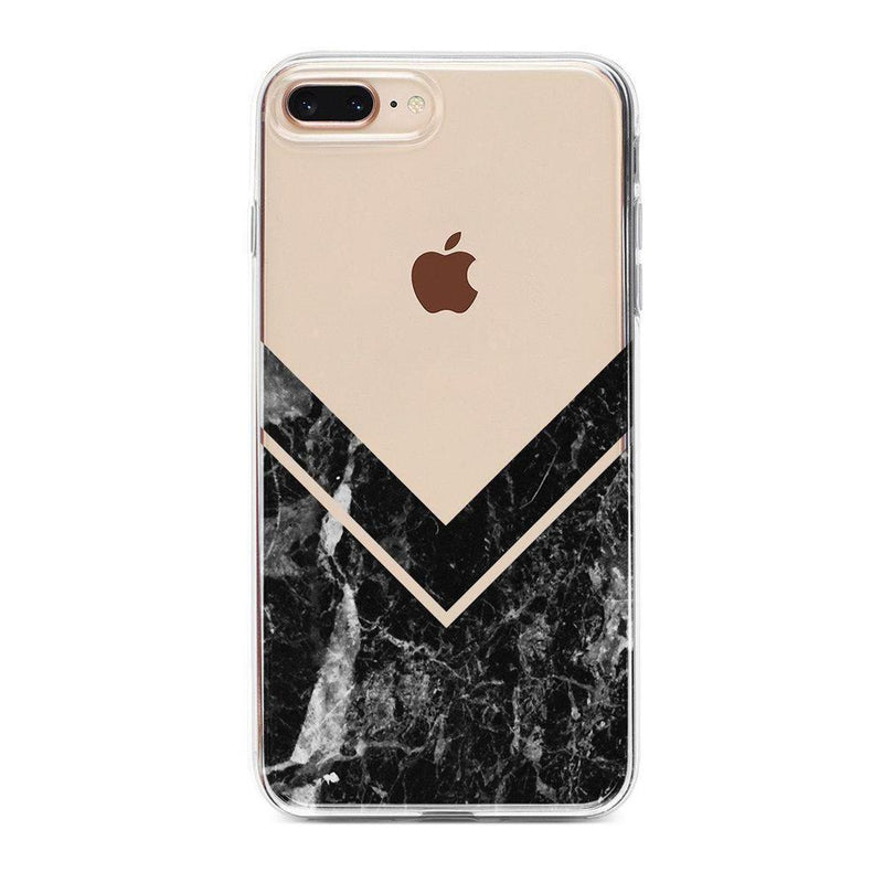 Sleek Black Marble V Clear Case iPhone Case Get.Casely Classic iPhone 6/6s Plus