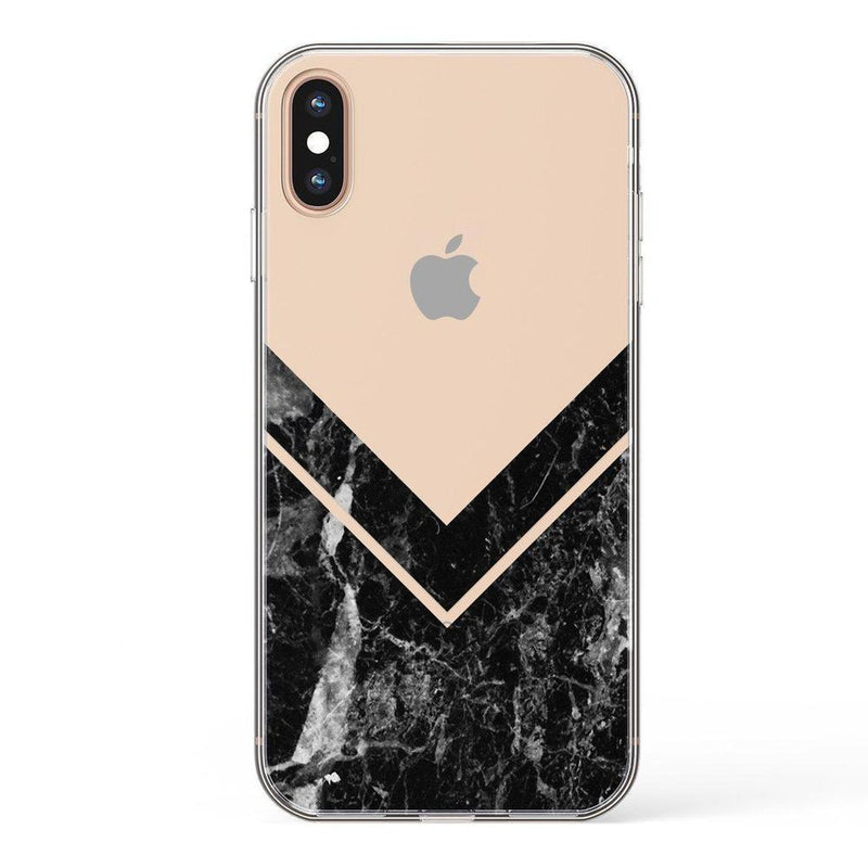 Sleek Black Marble V Clear Case iPhone Case Get.Casely Classic iPhone X / XS