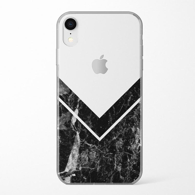 Sleek Black Marble V Clear Case iPhone Case Get.Casely Classic iPhone XR