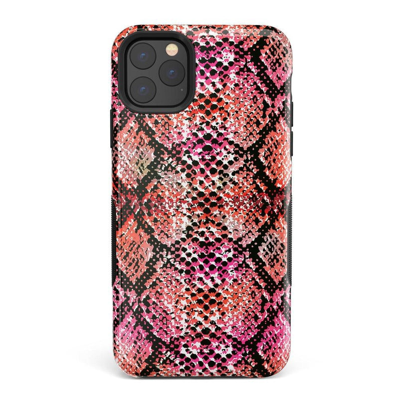 Snake Along Red Snake Skin Case iPhone Case get.casely Bold iPhone 11 Pro