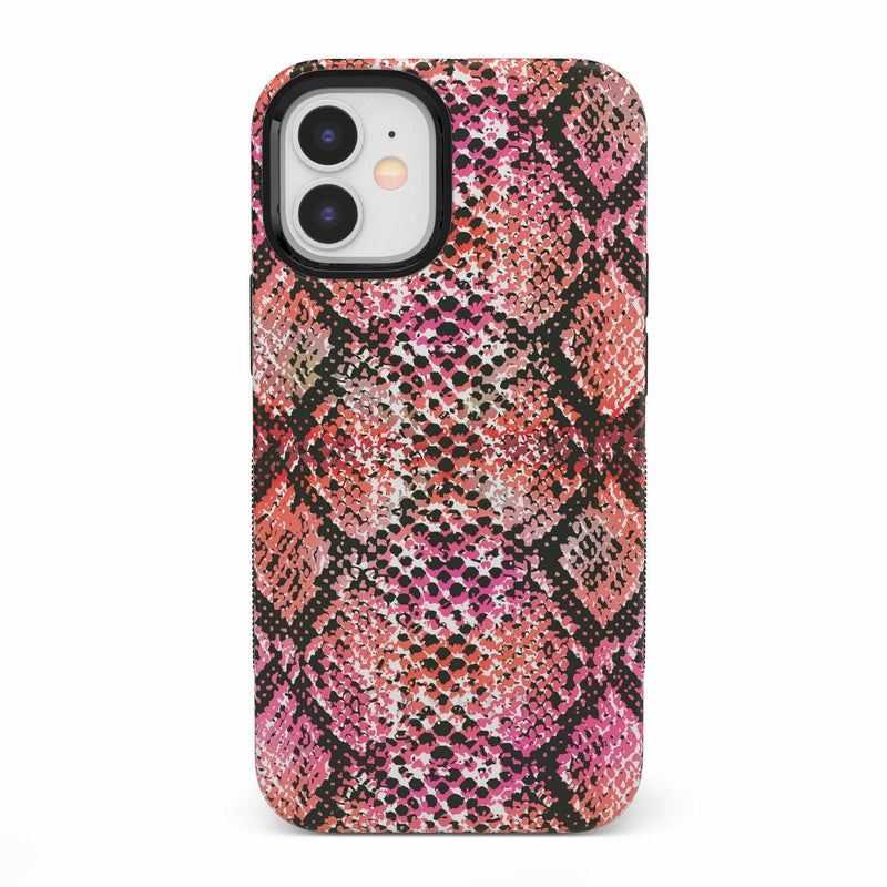 Snake Along Red Snake Skin Case iPhone Case get.casely Bold iPhone 12 Mini