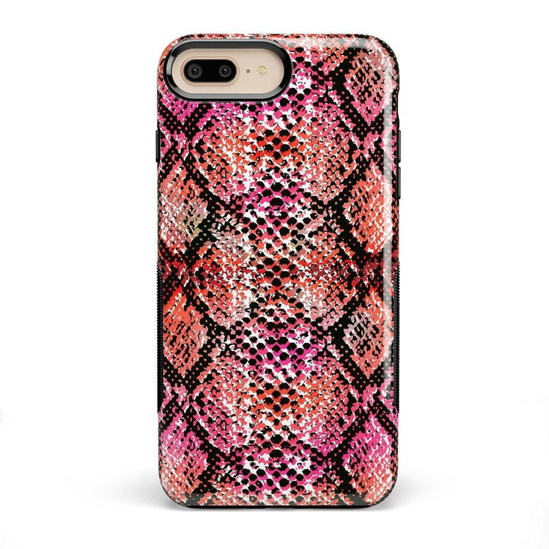 Snake Along Red Snake Skin Case iPhone Case get.casely Bold iPhone 8 Plus