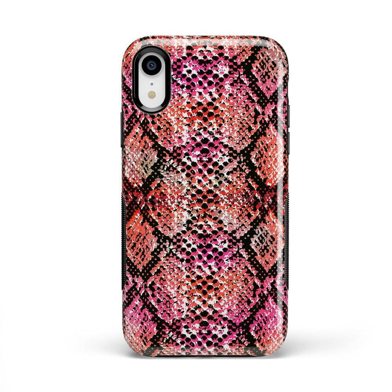 Snake Along Red Snake Skin Case iPhone Case get.casely Bold iPhone XR