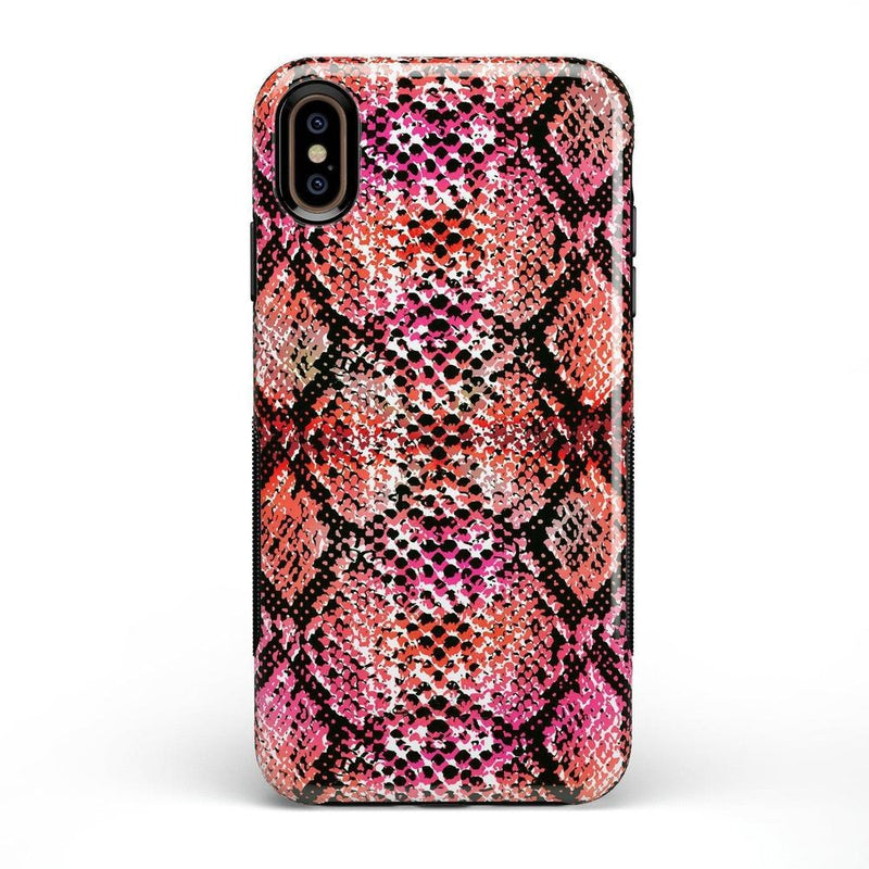 Snake Along Red Snake Skin Case iPhone Case get.casely Bold iPhone XS Max